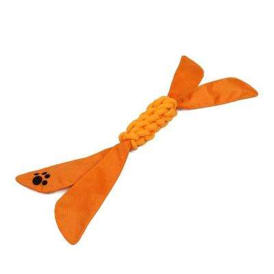 Extreme Twist Squeak Dog Rope Toy in Orange