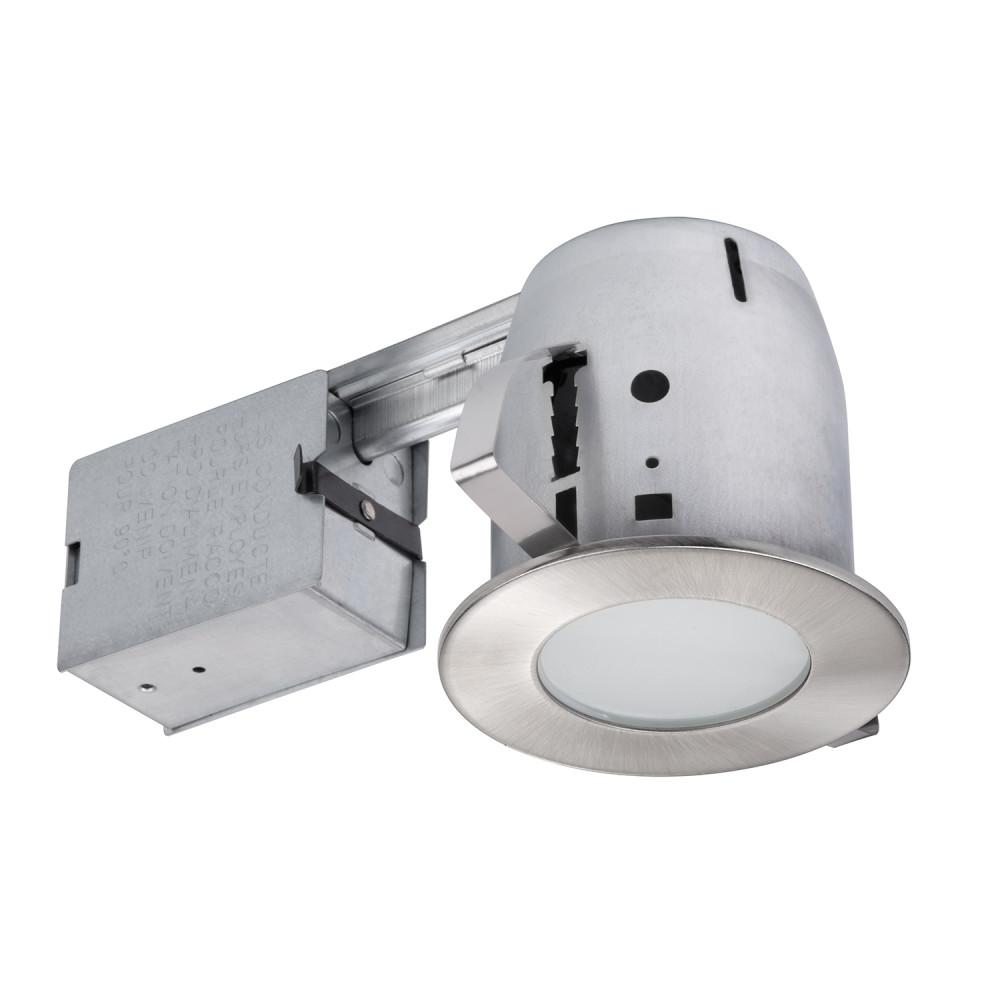 Brushed Nickel Recessed Lighting Kit