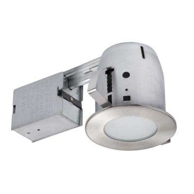 4 in. Brushed Nickel Recessed Lighting Kit