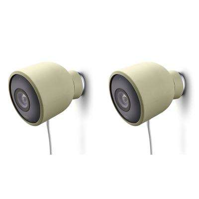 Colorful Silicone Skins for Nest Cam Outdoor Security Camera in Beige (2-Pack)