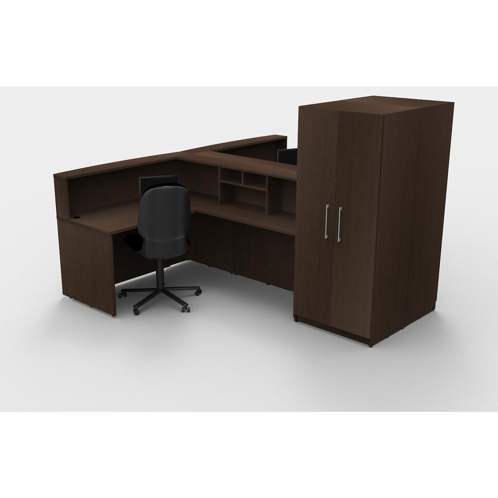 Etonnant OfisLITE 10 Piece Espresso Office Reception Desk Collaboration Center