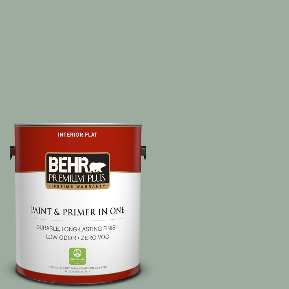 1 gal. #PPU11-15 Green Balsam Flat Zero VOC Interior Paint and