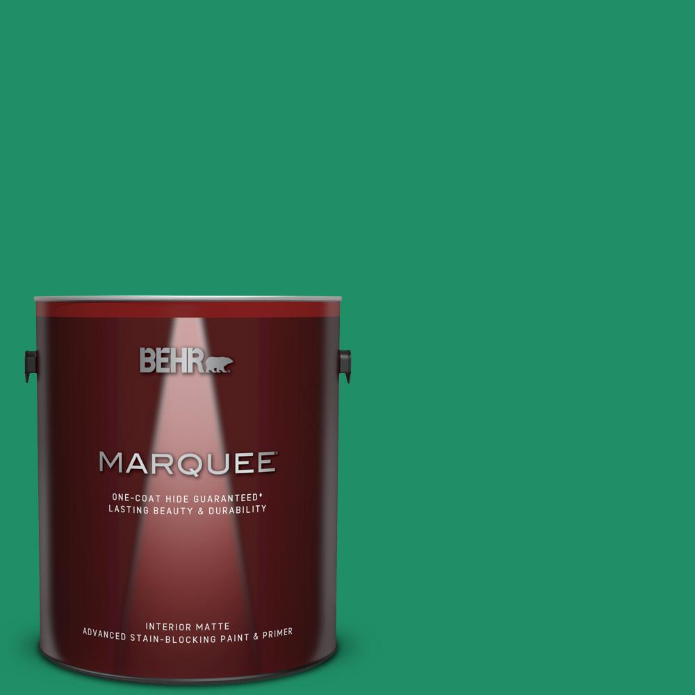 Behr Marquee 1 Gal Mq4 15 Balsam One Coat Hide Matte Interior Paint And Primer In One 145301 The Home Depot