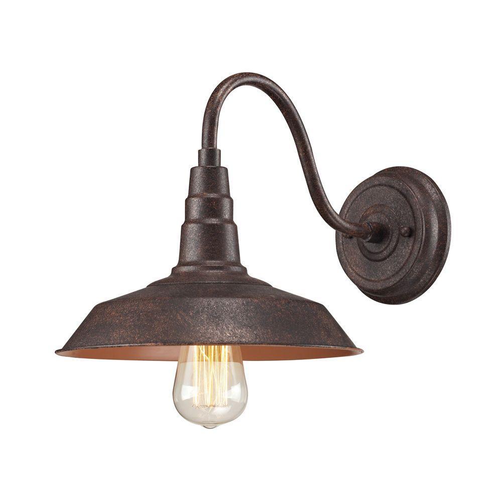 Urban Lodge 1-Light Weathered Bronze Sconce