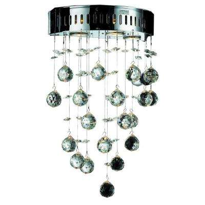 3-Light Chrome Pendant with Clear Crystal