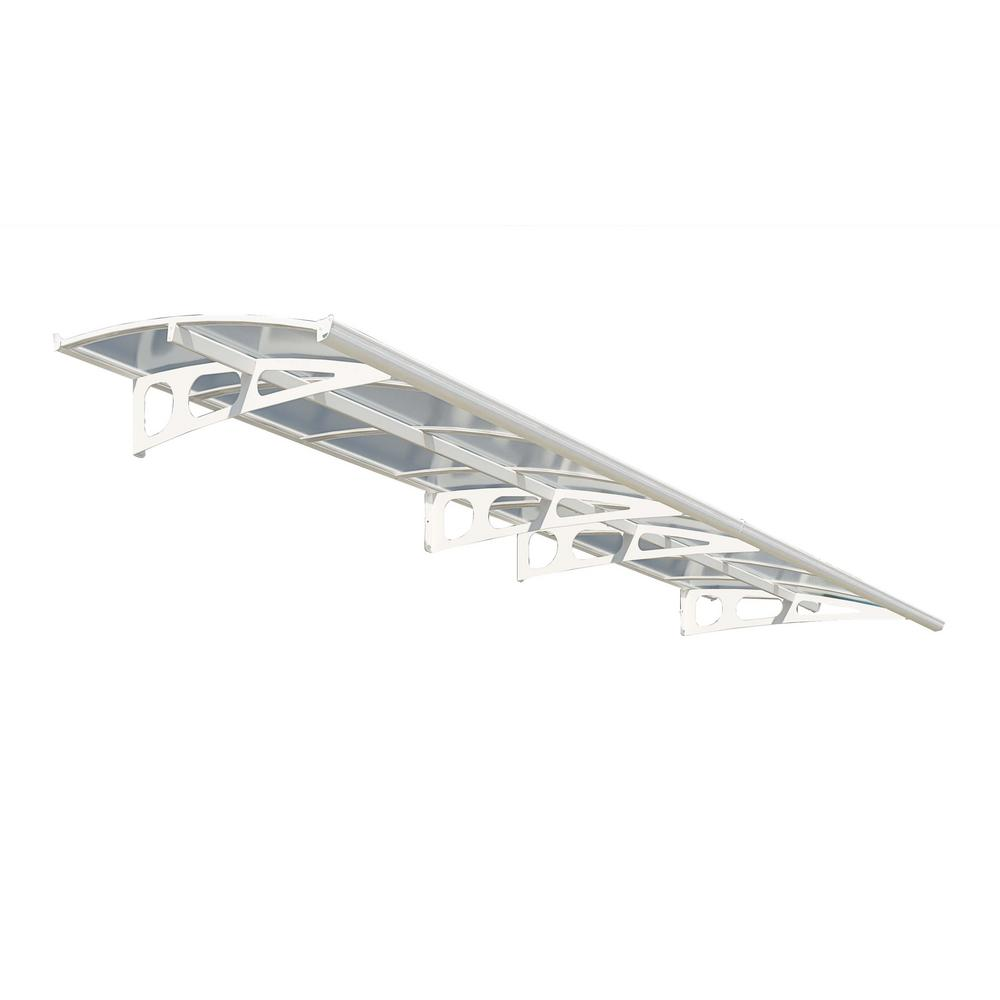 Palram Bordeaux 4460 14 ft. 8 in. (13 in. H x 54.7 in. D) White Door Canopy Awning