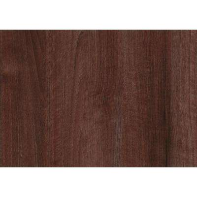 26 in. x 78 in. Walnut Red Self-adhesive Vinyl Film for Furniture and Door Renovation/Decoration