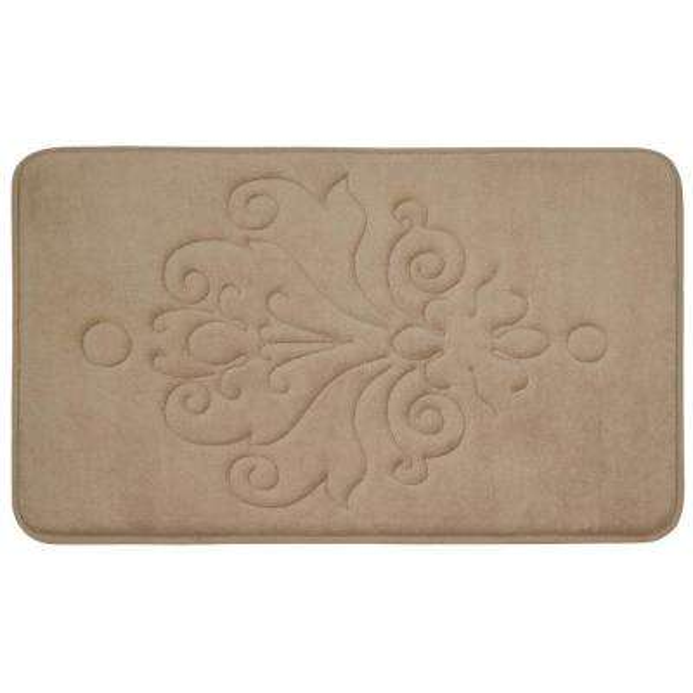 Reve Linen 20 in. x 32 in. Memory Foam Bath Mat