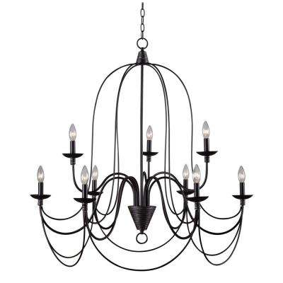 Blakely 9-Light Chandelier in Matte Black