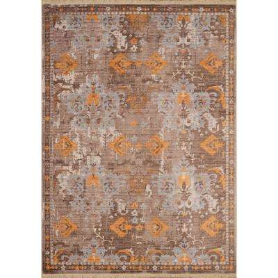 Monaco St. Martin Burnt Orange 10 ft. x 13 ft. Area Rug