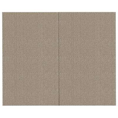 44 sq. ft. Chrome Fabric Covered Top Kit Wall Panel
