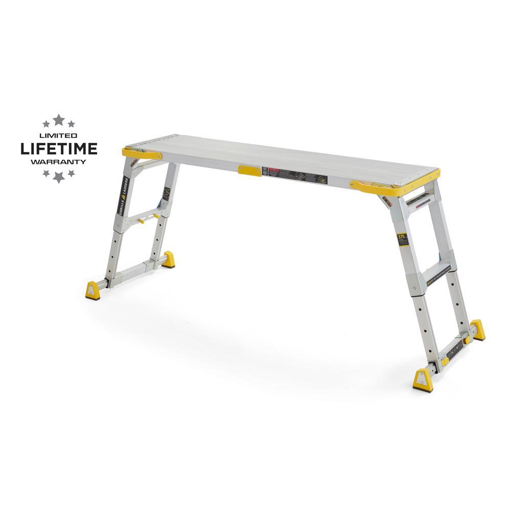 Gorilla Ladders Work Platform Aluminum Slim Fold 300 LB Capacity Carrying Handle