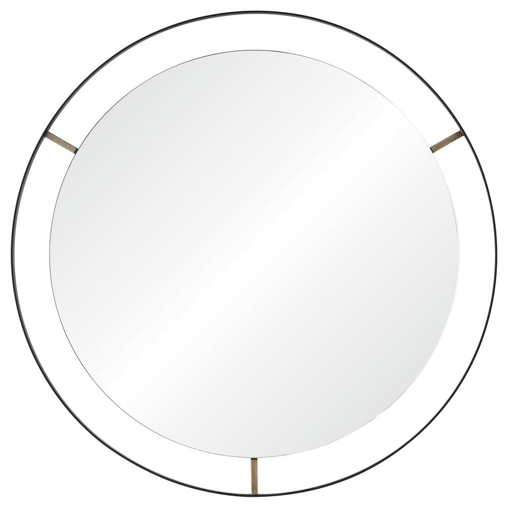 Jericho 30.5 in. Round Framed Wall Mirror