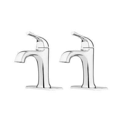 Ladera 4 In. Centerset Single-Handle Bathroom Faucet in Polished Chrome (2-Pack)