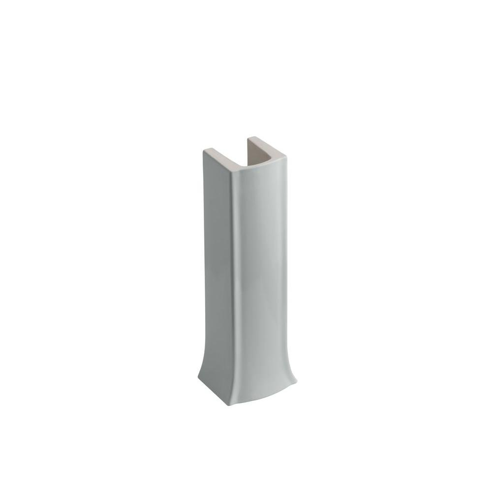 Archer Vitreous China Pedestal in Ice Grey