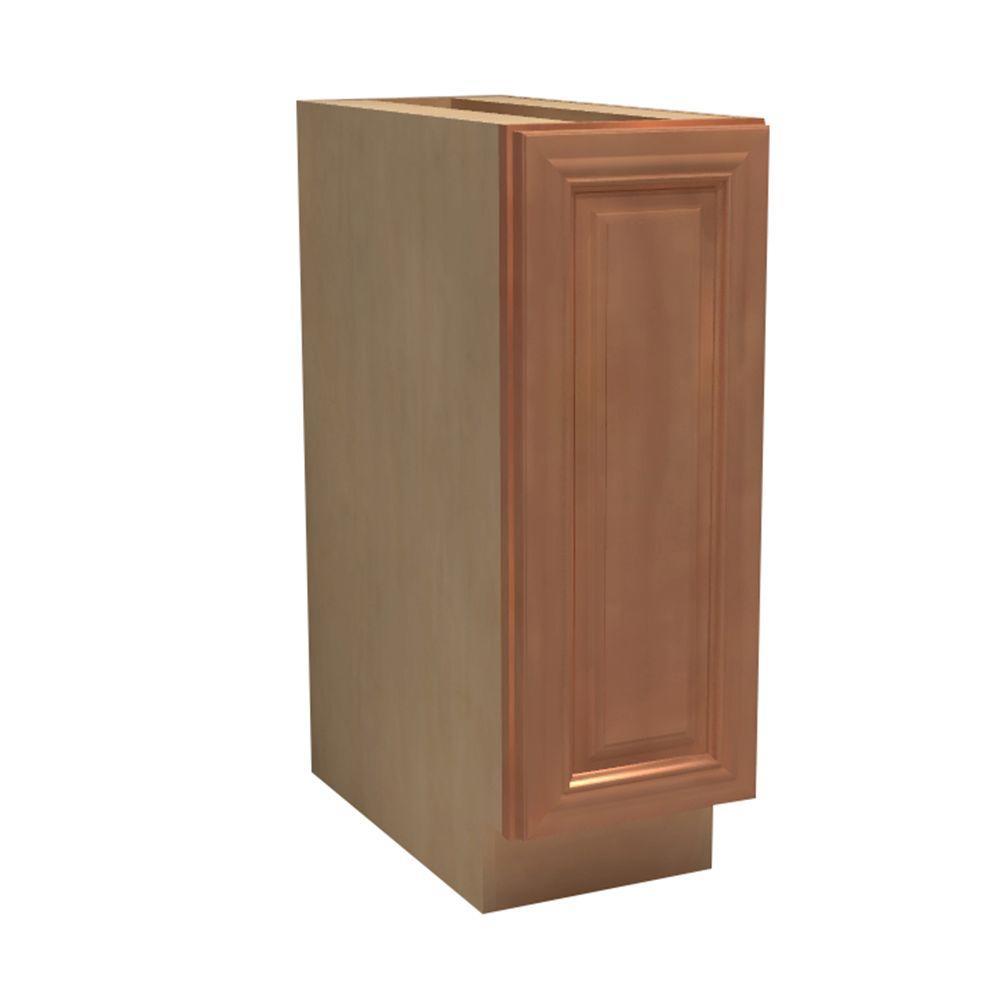 Dartmouth Assembled 15x34.5x21 in. Single Door Hinge Right Base Vanity Cabinet in Cinnamon