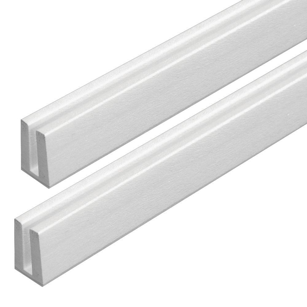 Veranda 4 Ft White Vinyl Lattice Cap Moulding 73004058