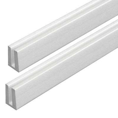 4 ft. White Vinyl Lattice Cap (2-Pack)