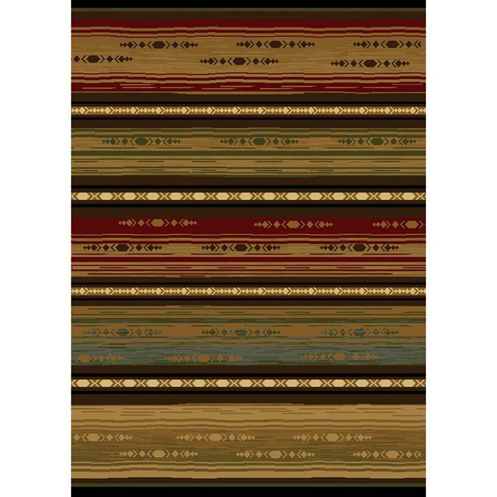 Home Dynamix Navajo Multi Polypropylene 2 ft. 7-1/2 in. x Your Choice Length Finished Roll Runner