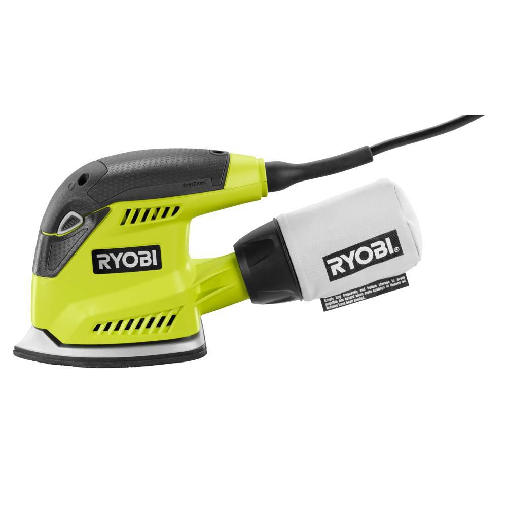 Ryobi Corner Cat Sander 1.2 Amp Corded Power Tool for Detail Sanding Heavy Duty