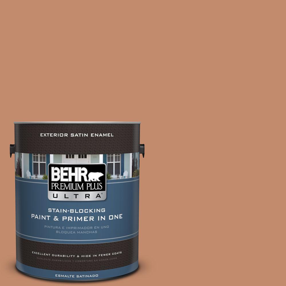 BEHR Premium Plus Ultra 1-gal. #240F-4 Tiny Fawn Satin Enamel Exterior Paint