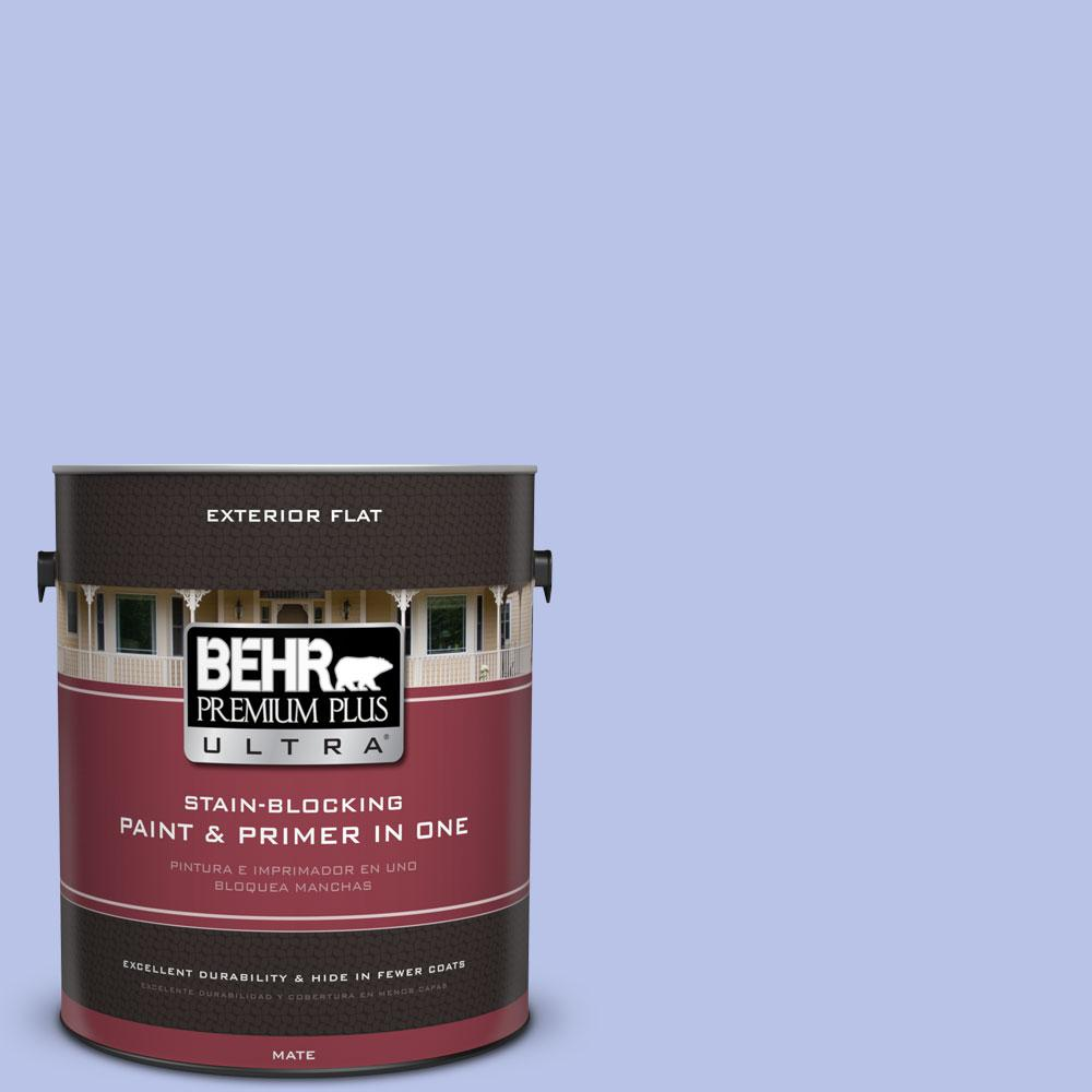 BEHR Premium Plus Ultra 1-gal. #P540-3 Canterbury Bells Flat Exterior Paint