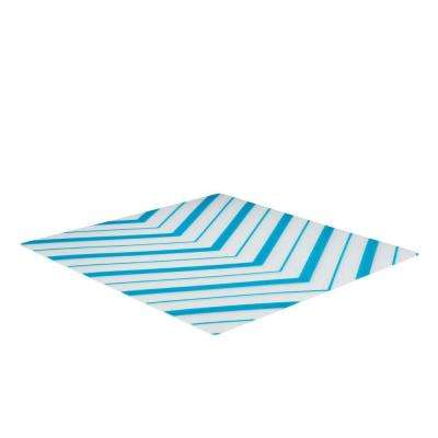 Refrigerator Liners Blue Chevron (2-Pack)