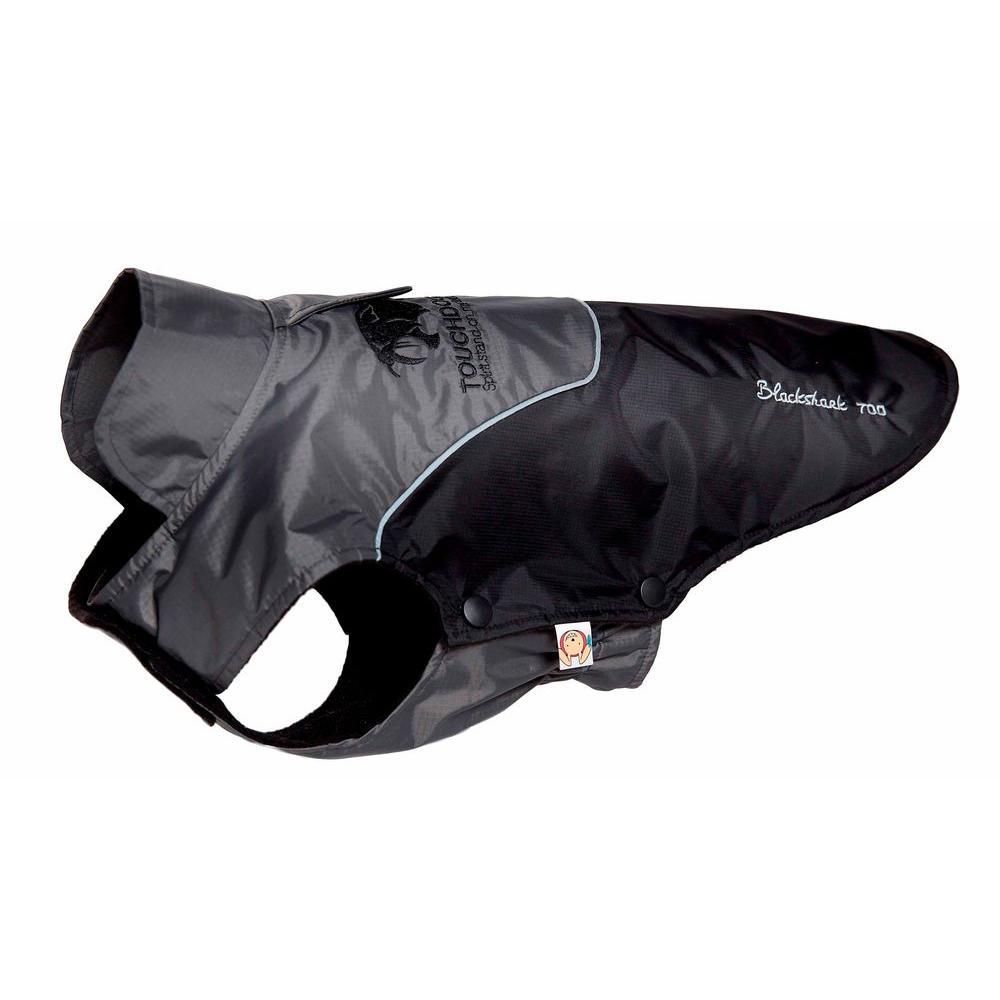 Large Black and Grey Subzero-Storm Waterproof 3M Reflective Dog Coat with Blackshark Technology