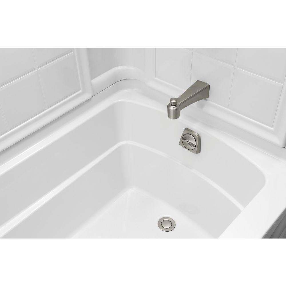 60-Inch x 42-Inch x 18.25-Inch Left-Hand STERLING 71111112-0 Ensemble Bathtub White