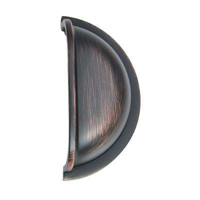 3 in. (76 mm) Oil Rubbed Bronze Traditional Bin Cup Drawer Pull (25-Pack)