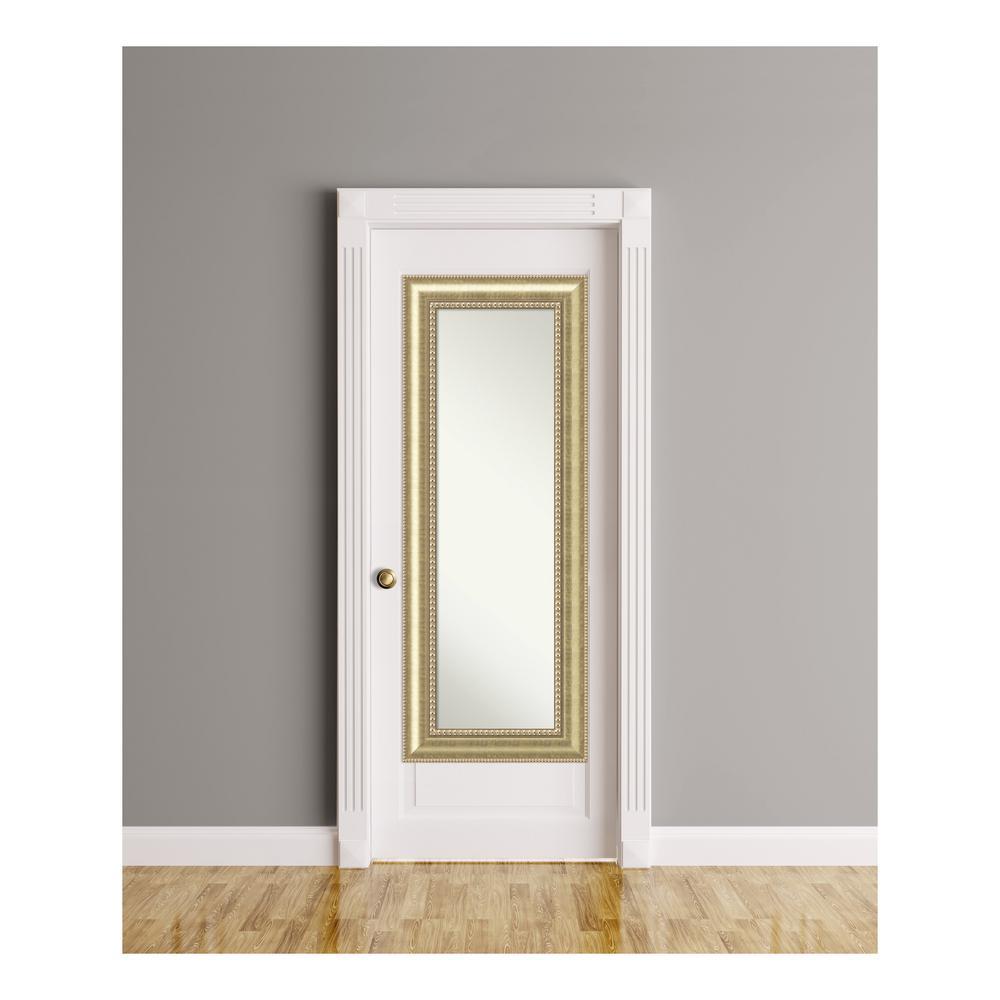 Astoria Champagne Wood 21 in. W x 55 in. H On The Door Mirror