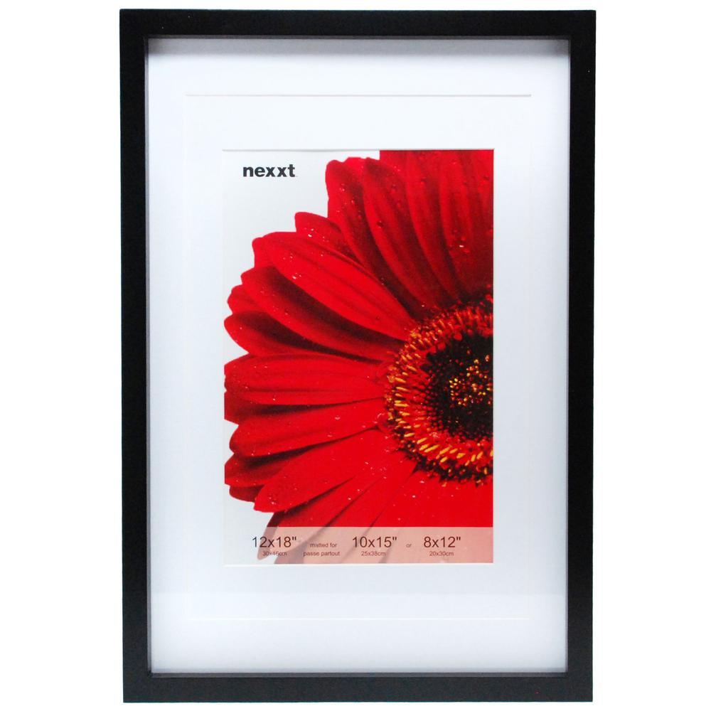 nexxt Gallery 12 in. x 18 in. Black Wood Frame-PN00244-0FF - The ...