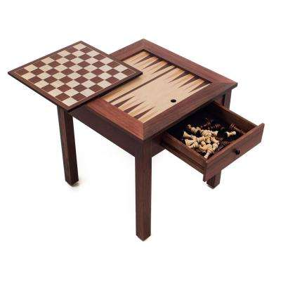 3-in-1 Chess and Backgammon Table Set