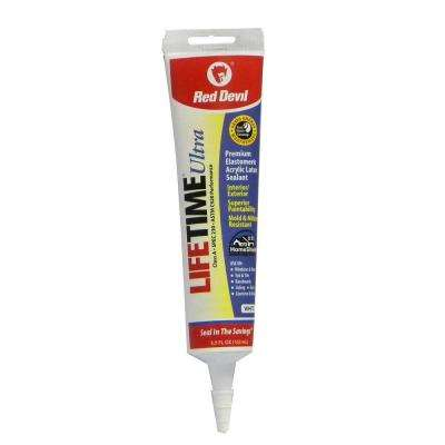 Lifetime Ultra 5.5 oz. White Acrylic Latex Caulk