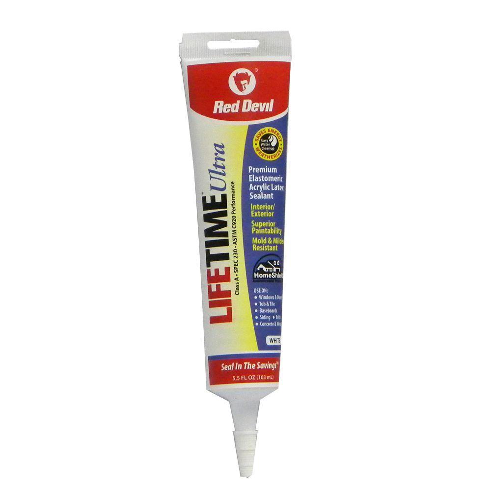 Lifetime Ultra 5.5 oz. White Acrylic Latex Caulk