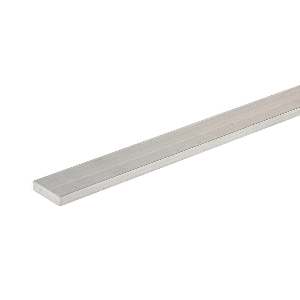 Everbilt 96 in. x 1 in. x 1/4 in. Aluminum Flat Bar