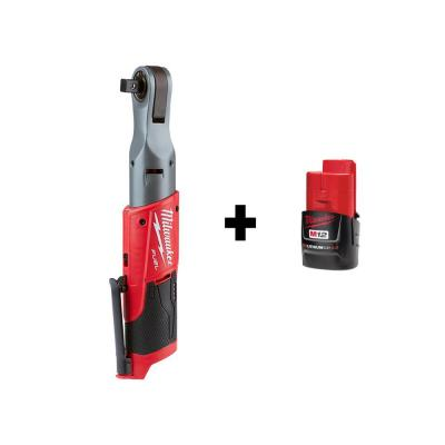 M12 FUEL 12-Volt Lithium-Ion Brushless Cordless 1/2 in. Ratchet with Free M12 2.0Ah Battery