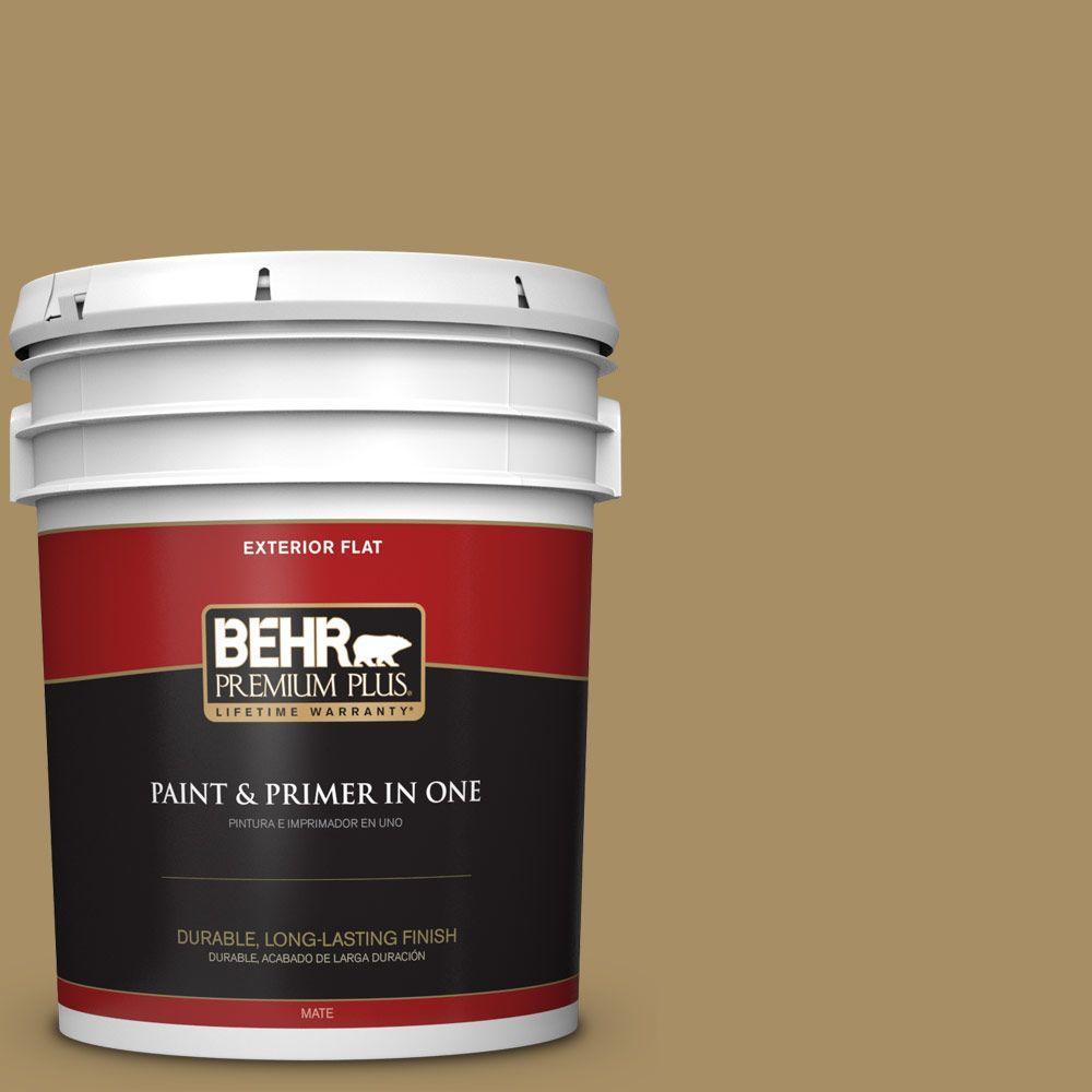 BEHR Premium Plus 5-gal. #350F-6 Fossil Butte Flat Exterior Paint