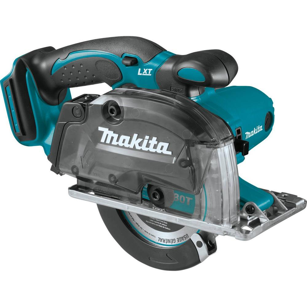 Makita 18-Volt LXT Lithium-Ion Cordless 5-3/8 in. Metal Cutting Saw with Electric Brake and Chip Collector Tool-Only