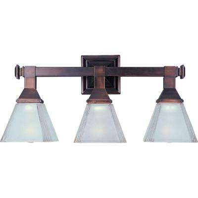 Brentwood 3-Light Oil-Rubbed Bronze Bath Vanity Light