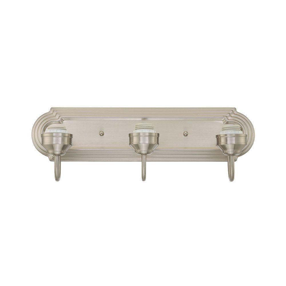3-Light Brushed Nickel Wall Fixture