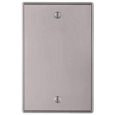 Ansley Cast 1 Blank Wall Plate Brushed Nickel