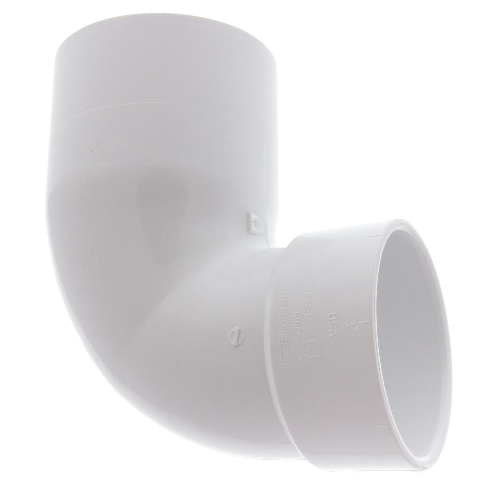4 in. x 3 in. PVC DWV 90 Degree Spigot x Hub Street Closet Elbow