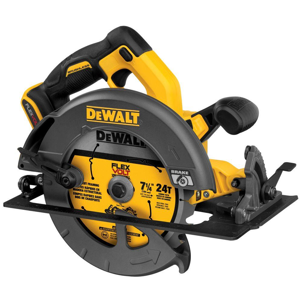 Dewalt 20 volt max lithium ion cordless 6 12 in circular saw tool flexvolt 60 volt max lithium ion cordless brushless 7 14 in greentooth Choice Image