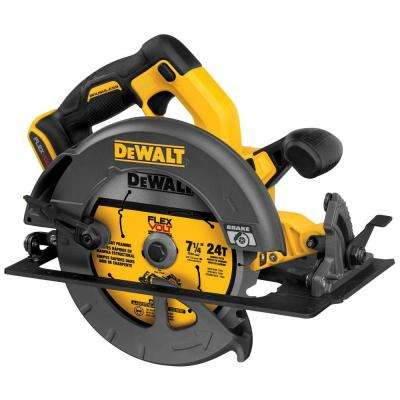 FLEXVOLT 60-Volt MAX Lithium-Ion Cordless Brushless 7-1/4 in. Circular Saw (Tool-Only)