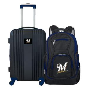 MLB Milwaukee Brewers 2-Piece Set Luggage and Backpack