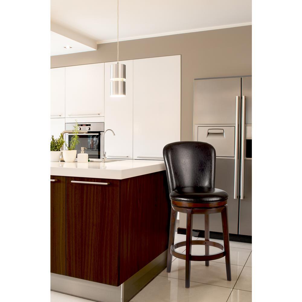 Hillsdale Furniture Victoria 26 in. Swivel Counter Stool in Dark Chestnut