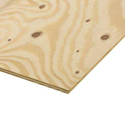 3/4 in. x 4 ft. x 8 ft. Ground Contact Pressure Treated Pine Performance Rated Sheathing