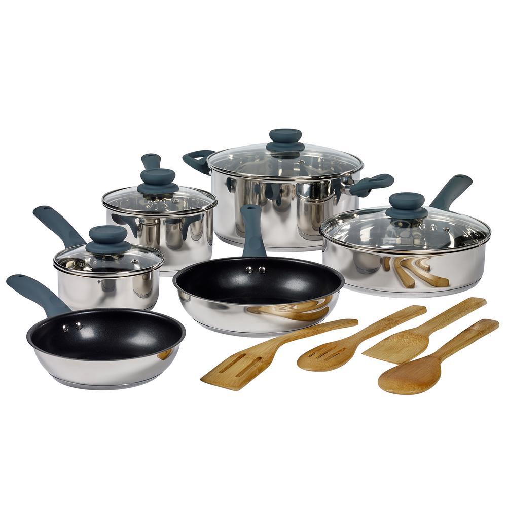 Basic Essentials Cookware Sets Cookware The Home Depot
