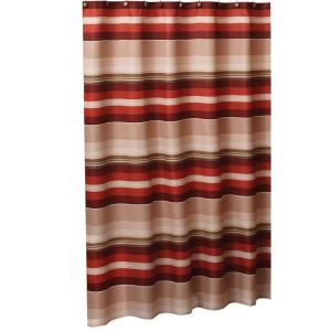 Saturday Knight Madison Stripe 72 inch W x 72 inch L Fabric Shower Curtain in Red by Saturday Knight